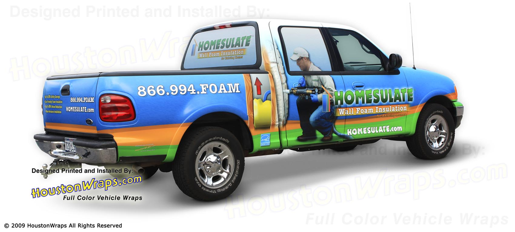 Houston Wraps - Homesulate - Truck 2 Wrap